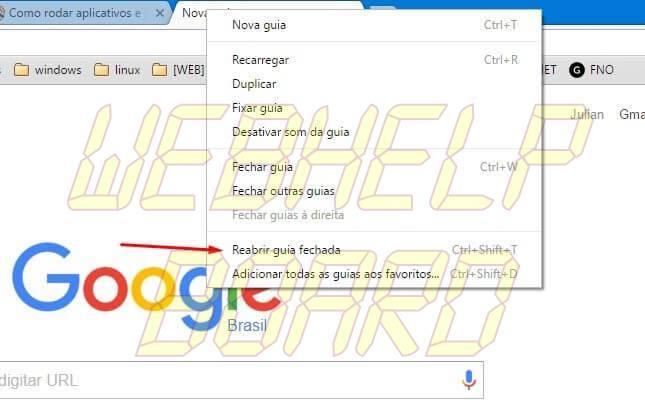 reabrir guia fechada - Google Chrome: 10 dicas para você usar melhor o navegador