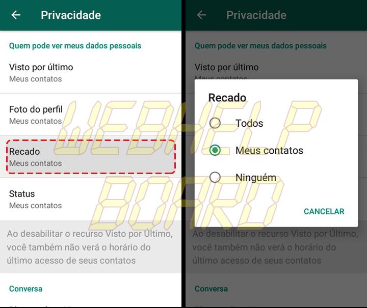 Showmetech tutorial whatsapp configuracoes de privacidade acessando itens de privacidade e seguranca 06 720x605 - Tutorial: como manter a privacidade no WhatsApp, sem perder a graça.