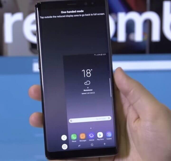 Uma mão Samsung Galaxy Note 8 720x680 - Galaxy Note 8: Dicas e truques para tirar o máximo do aparelho