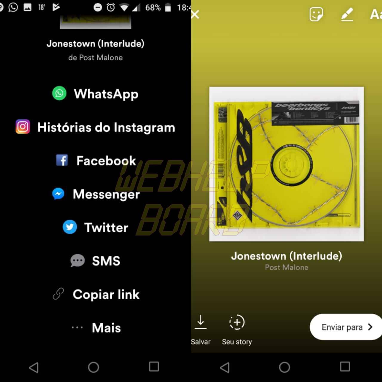 WhatsApp Image 2018 05 21 at 19.01.12 1 - Como compartilhar músicas do Spotify no Instagram