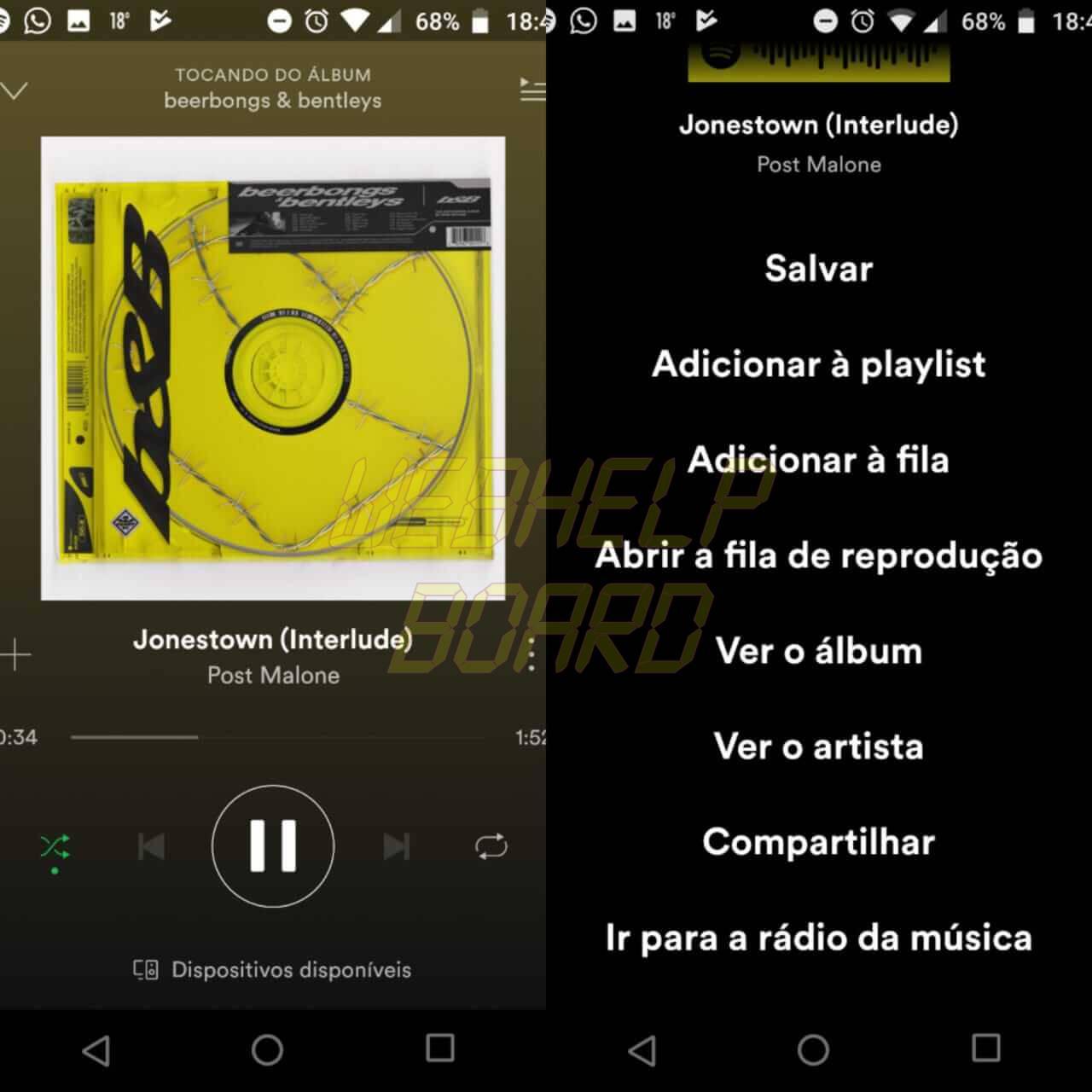 WhatsApp Image 2018 05 21 at 19.01.12 - Como compartilhar músicas do Spotify no Instagram