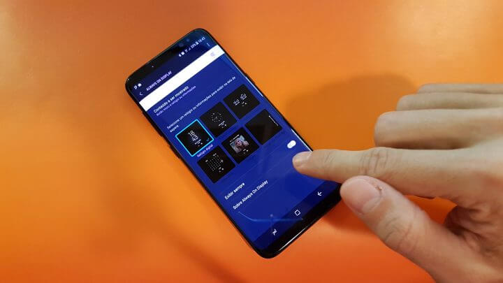 CONFIGURAÇÃO AOD GALAXY S8 720x405 - Dicas e truques para o Samsung Galaxy S8 ou S8+