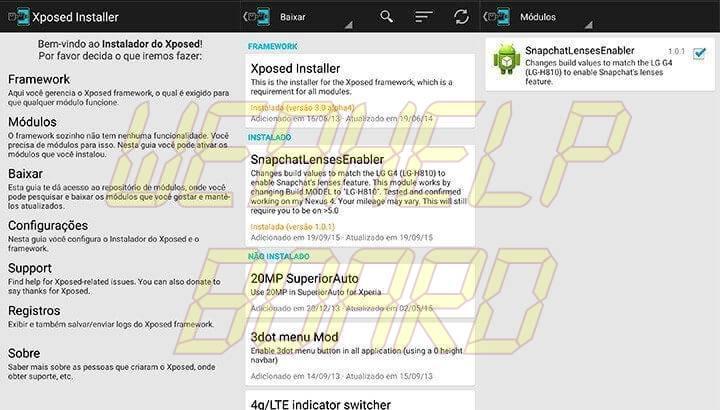xposed 720x410 - Tutorial: como ativar as lentes do Snapchat no Android