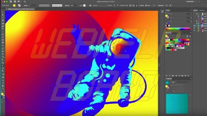 adobe illustrator new gradient tool 720x405 - Adobe Illustrator: aprenda a recuperar arquivos .ai corrompidos