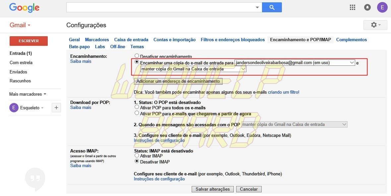 gmail tutorial 05 - Como combinar duas ou mais contas do Gmail