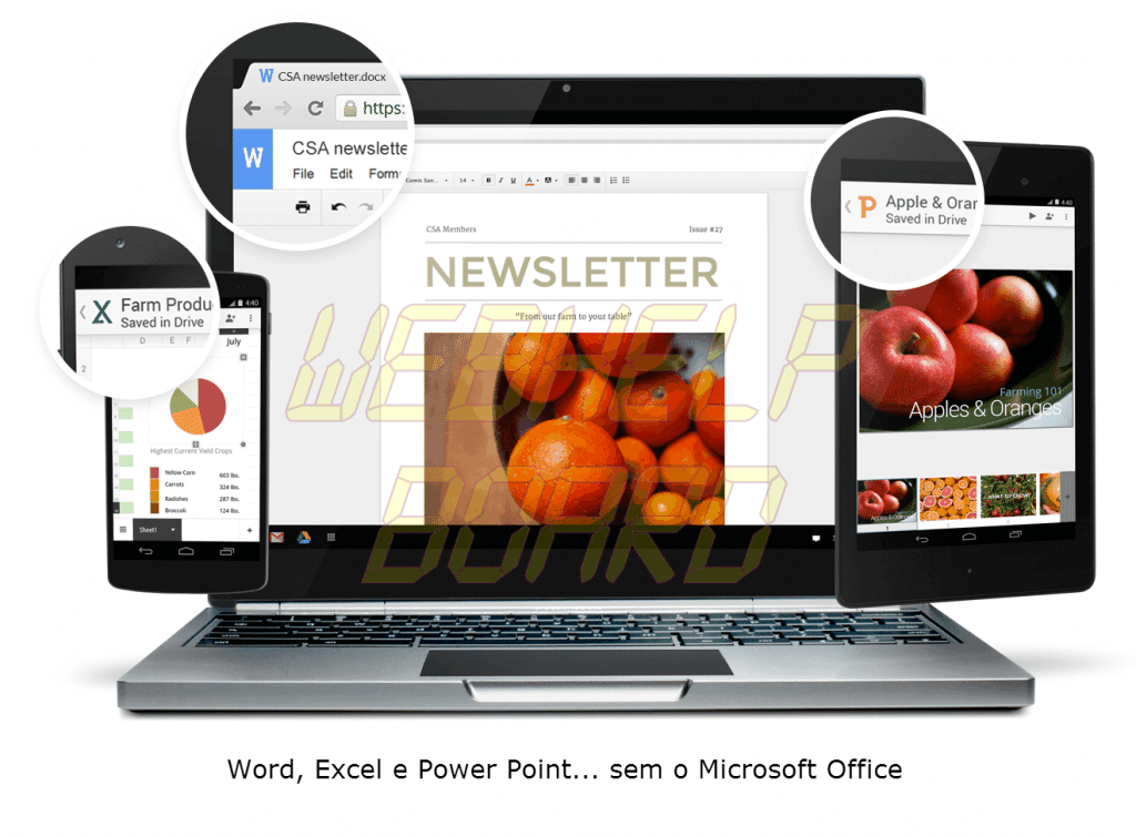 Office Editing for Docs Sheets and Slideshows sem Microsoft Office Google Docs 2 - Extensão gratuita permite editar e criar arquivos do Word, Excel e Power Point no Google Chrome