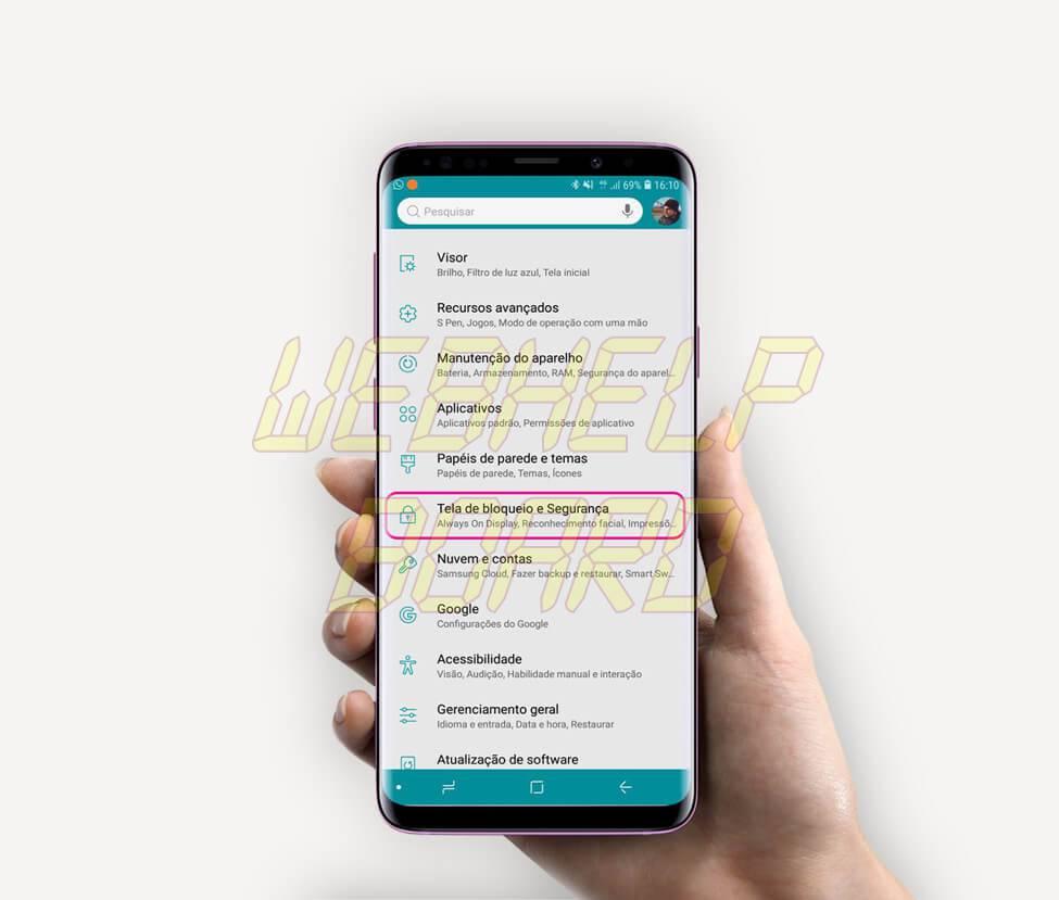 passo01 - Tutorial: use Clock Face para alterar o estilo do relógio do Samsung Galaxy