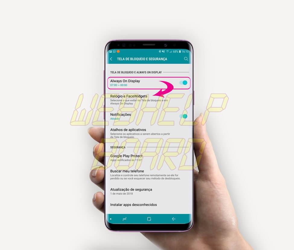 passo02 - Tutorial: use Clock Face para alterar o estilo do relógio do Samsung Galaxy