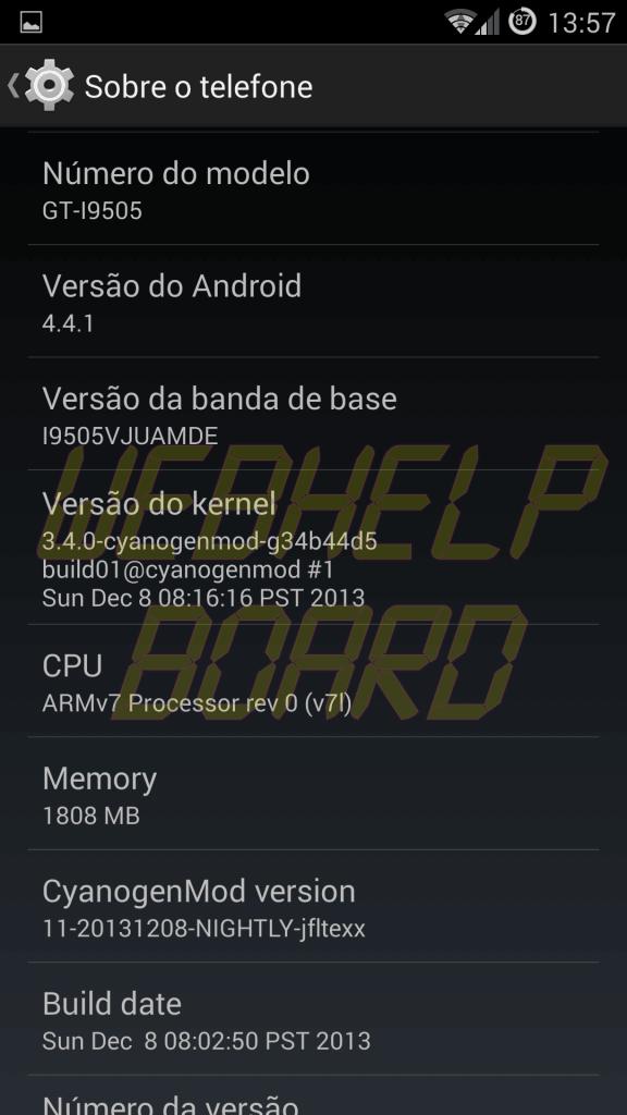 Print CM11 Kikat S4 i9505 03 - Tutorial: instale a ROM CyanogenMOD 11 no Samsung Galaxy S4 (GT-i9505)