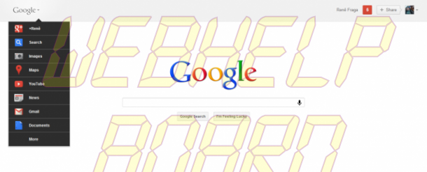 google novo e1322920294318 610x247 - Experimente a nova barra de navegação do Google