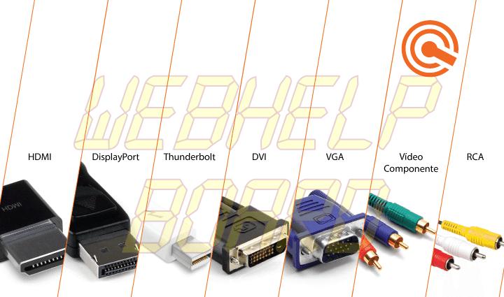 conectores conectors hdmi conector displayport rca vga usb mhl dvi - HDMI, DisplayPort, DVI, VGA ou Vídeo Componente… qual é o melhor?