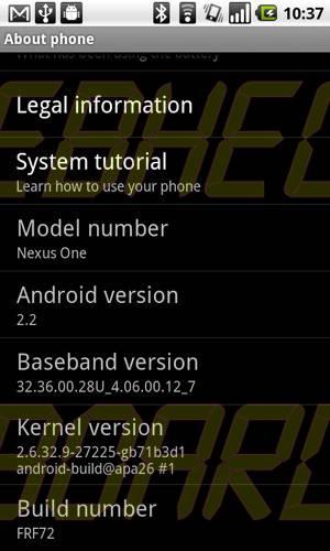 frf72 - Nexus One: como instalar a atualização 2.2(Froyo) e o Build FRF72
