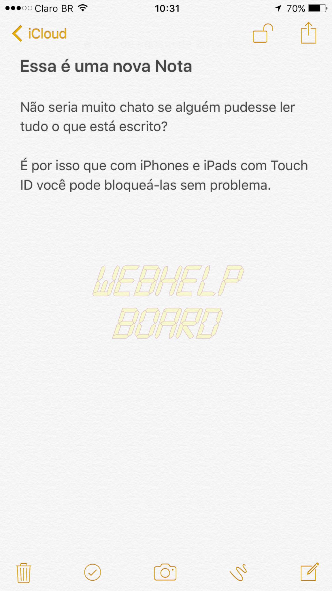 IMG 0786 - Tutorial: Como bloquear uma nota no iPhone ou iPad