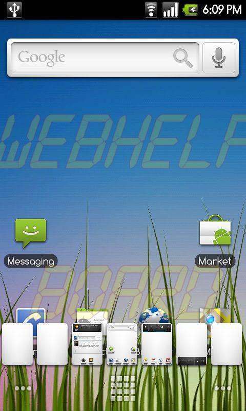 Launcher2 1 - Instale a nova versão do CyanogenMod 6.0.0 RC1 em seu celular Android
