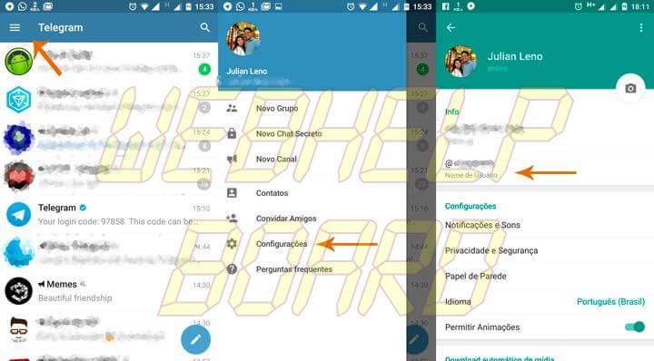 criar usuario 720x398 - Tutorial: Aprenda a criar seu nome de usuário no Telegram