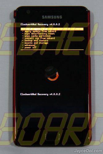 samsung galaxy s2 clockworkmod recovery mode 1 - Dica: como acessar o Modo de Recuperação (Recovery Mode) no Galaxy S e SII