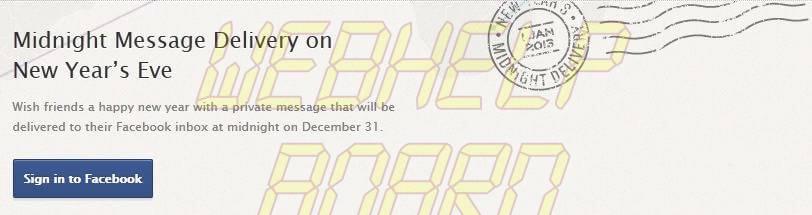 MidnightMessageDeliveryBanner - Como programar o Facebook para enviar mensagens no Ano Novo