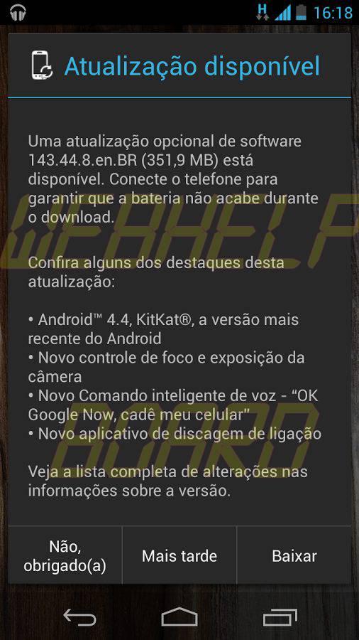 Moto X KitKat android brasil 4.4 - Moto X brasileiro recebe a atualização Android 4.4 Kitkat