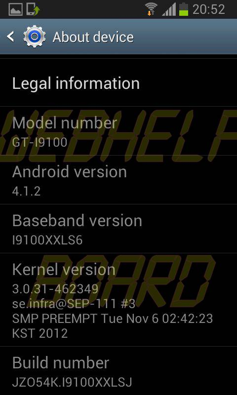 Galaxy SII Jelly Bean 2 1 - Vazou a ROM da atualização 4.1.2 Jelly Bean para o Galaxy SII (GT-i9100)