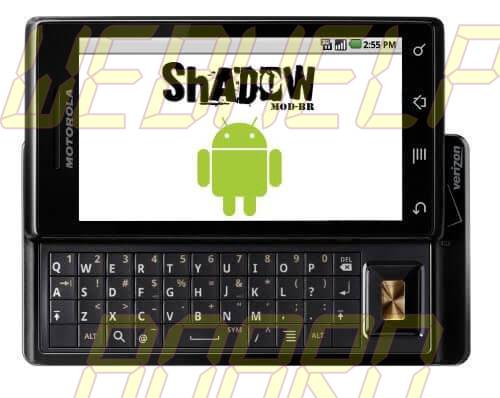 Milestone ShadowModBr - Atualização: ROM ShadowMOD-BR v2.3.2 - build 7 (Android Gingerbread) para o Motorola Milestone