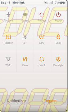 Toggles - MIUI ROM: Tutorial e Review completo (Android)
