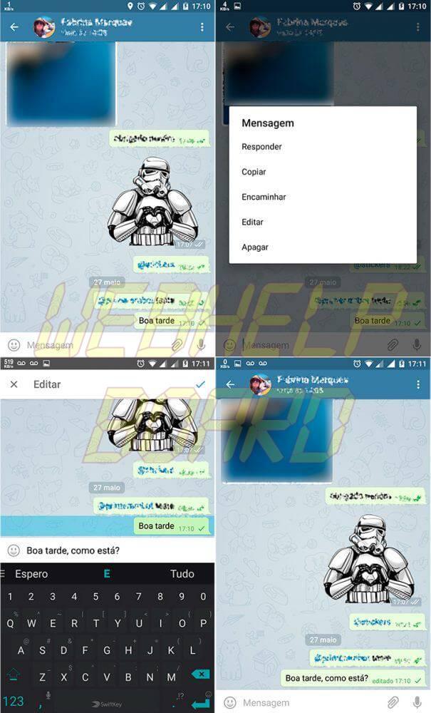 tutorial telegram editar 605x1000 - Tutorial: Como editar mensagens enviadas no Telegram