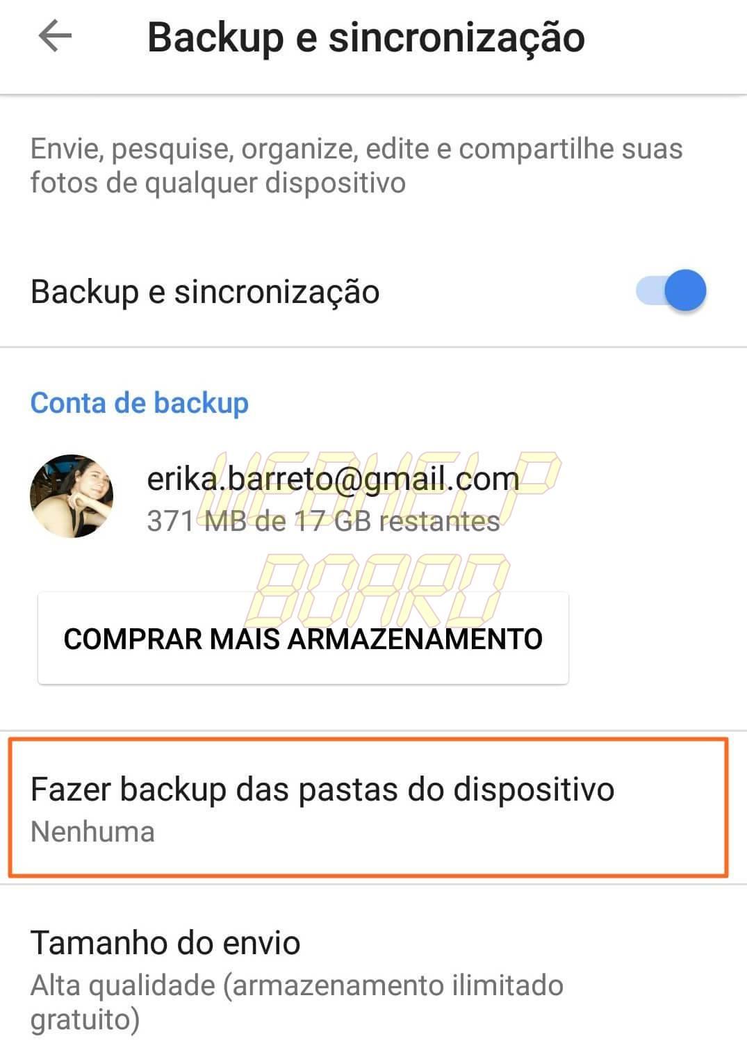 4 Fazer backup das pastas do dispositivo - Tutorial: Impedindo que o Google+ Auto Backup salve fotos do Whatsapp