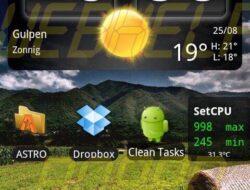Temas de Carbon and Black Express v2.2a para HTC Desire