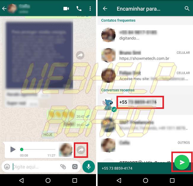 Screenshot 20180914 112906 - Truque simples permite ouvir áudio no WhatsApp sem denunciar ao remetente
