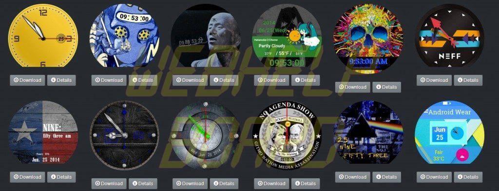 android wear watchfaces repository faces relogio moto 360 lg g watch r - Tutorial: troca de faces no Android Wear (Moto 360, G Watch R, Gear Live e outros)