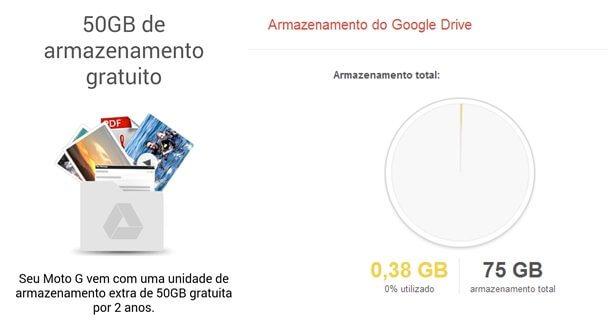 Google Drive Moto G Espaço Armazenamento ShowMeTech - Moto G: dicas para aproveitar melhor seu novo smartphone