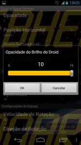 Selecionar Opacidade do Brilho 168x300 - Saiba como mudar a aparência do seu Android – Parte 3 – Papel de parede animado