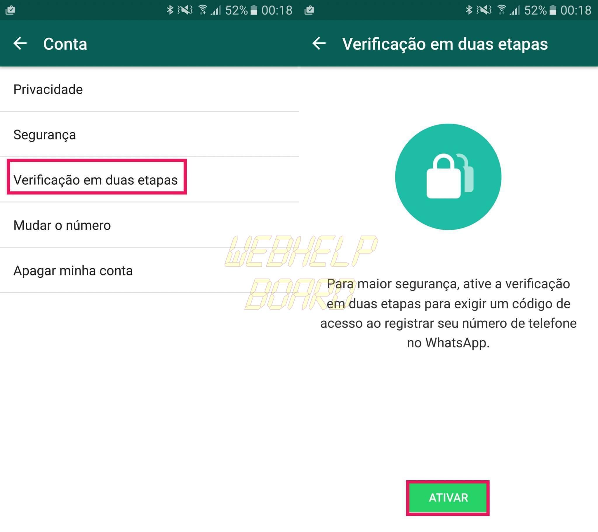 2 - Dica: como ativar a verificação em duas etapas do WhatsApp Beta