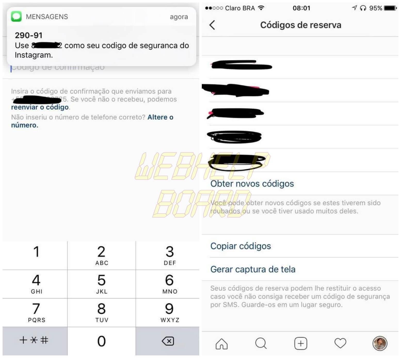 Instagram 03 - Tutorial: Como ativar a verificação em duas etapas do Instagram