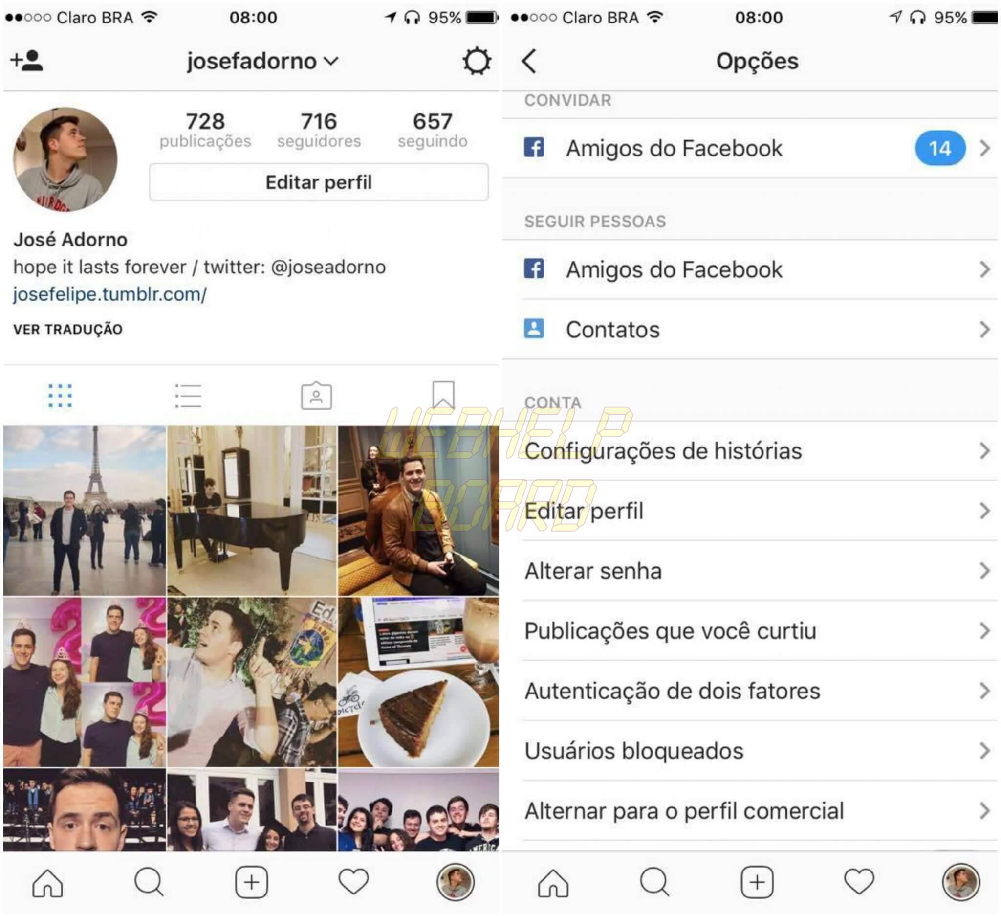 Instagram 1 - Tutorial: Como ativar a verificação em duas etapas do Instagram