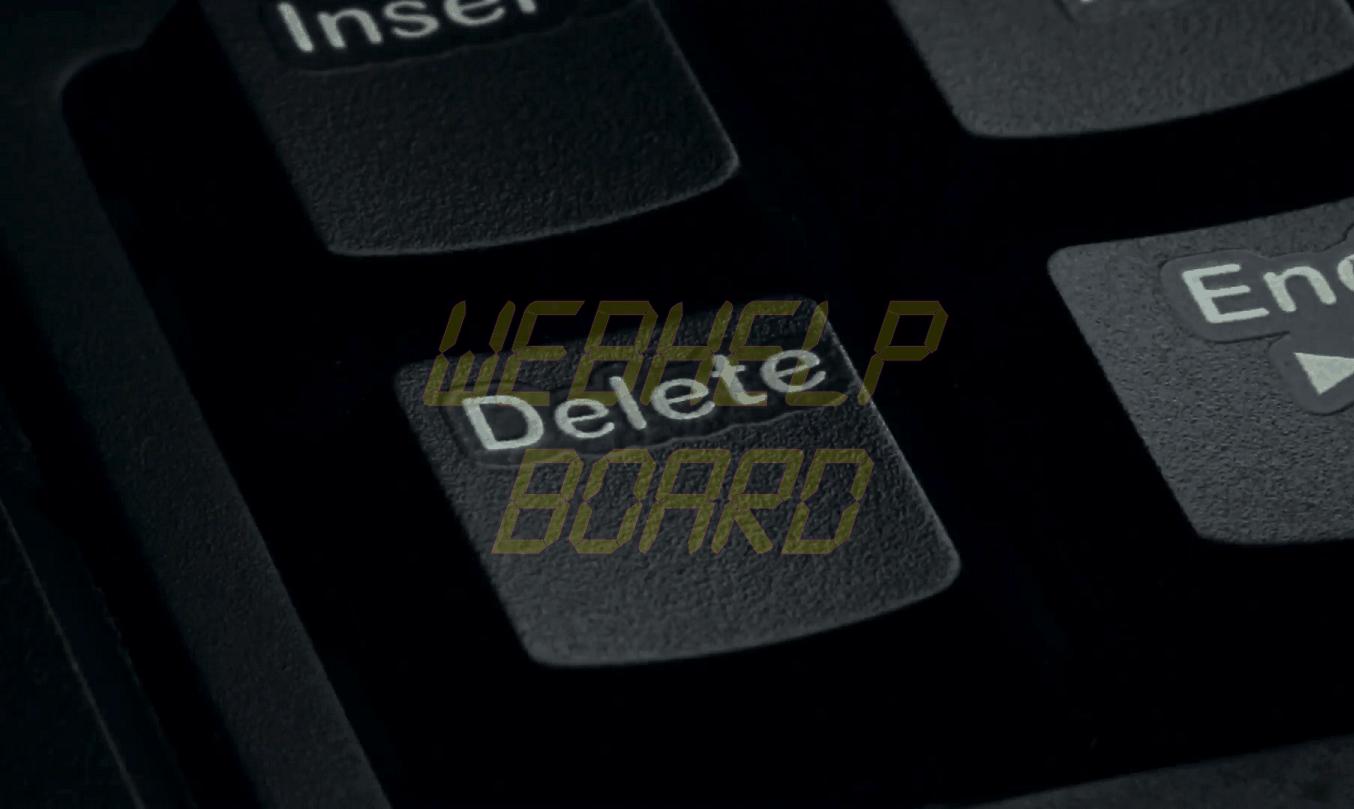 pressing the delete key on a computer keyboard close up noplwf 9x  F0000 - Tutorial: como excluir arquivos temporários do Windows manualmente